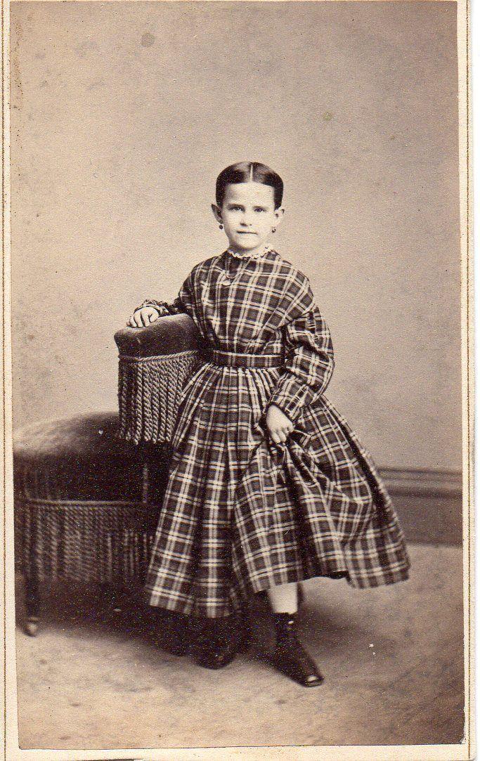 7269 CDV Carte de Visite Civil War Era Little Girl Showing Ankle Hartford Ct | eBay