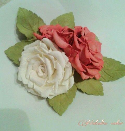 Розы на зажиме