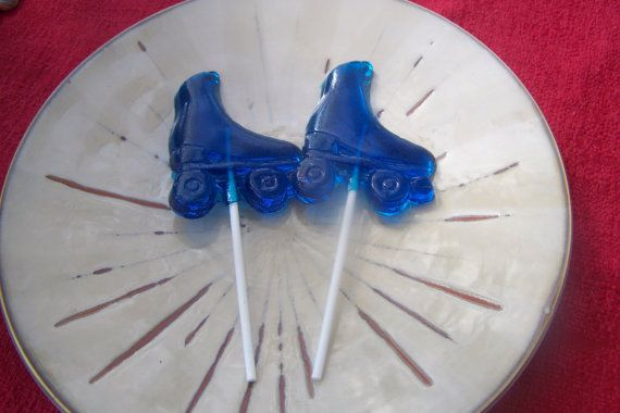 10 Roller Skate Derby Lollipop Sucker Party Favor Candy Skating Birthday on Etsy, $8.00