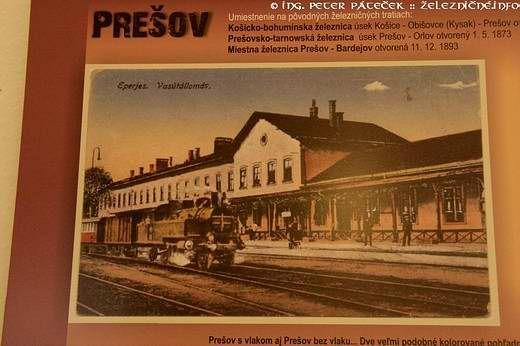 Výstava starých pohľadníc - Prešovská železničná stanica (krásne nostalgická, no už neexistujúca)