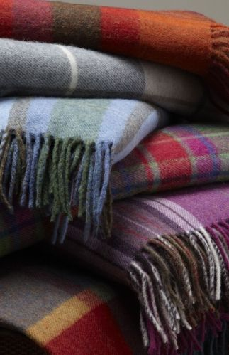 Wool Blankets - Colourful Checked Blankets : Bonsoir