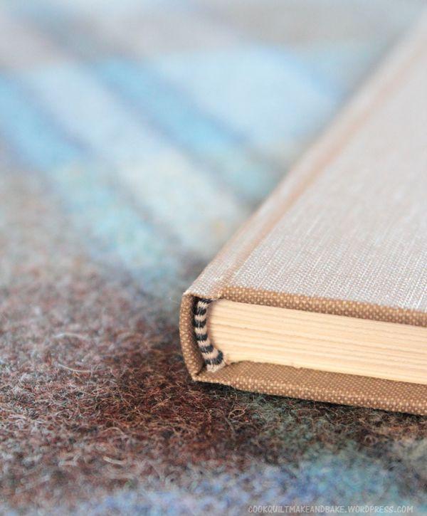 book binding finished corner