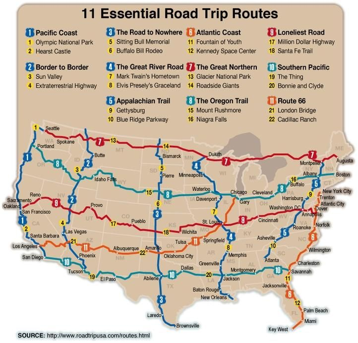 Best Road Trips Images On Pinterest Travel Travel Ideas And - Us map best roadtrip map