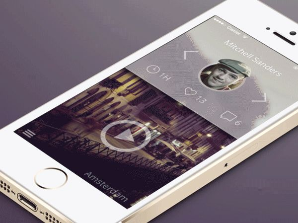 Video Feed by eyal zuri, via Behance