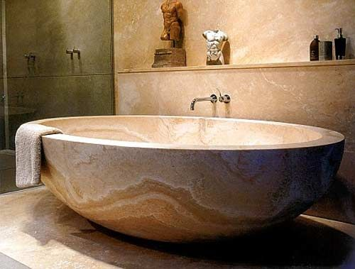 The Bathtub, Which Is Hewn From A Single Rock Of Marble, Was Made  Extra Large For Ross After An Initial Version Was Deemed To Be Too Small.  Descripu2026