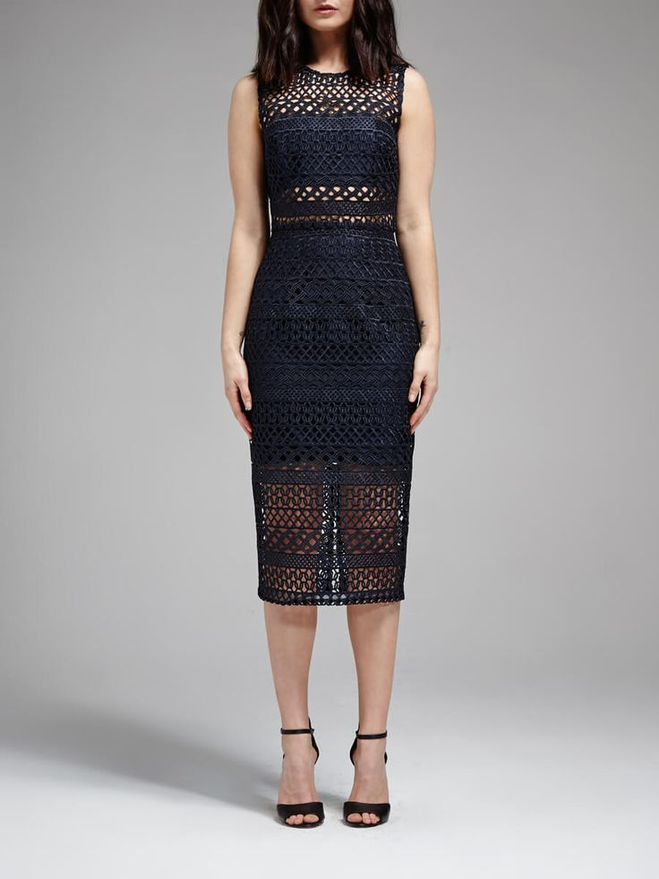 NICHOLAS - Braided Lace Fitted Dress