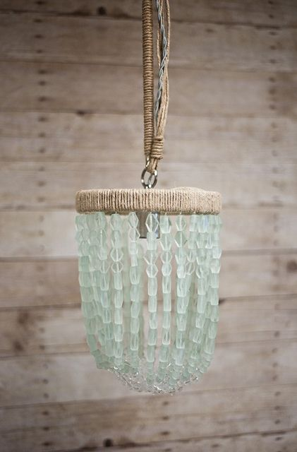 Sea Glass Chandelier by celadonhome, via Flickr