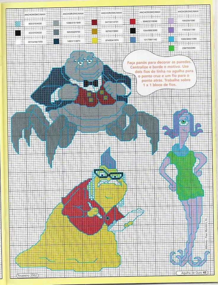 42 Best Monster Inc Cross Stitch Images On Pinterest