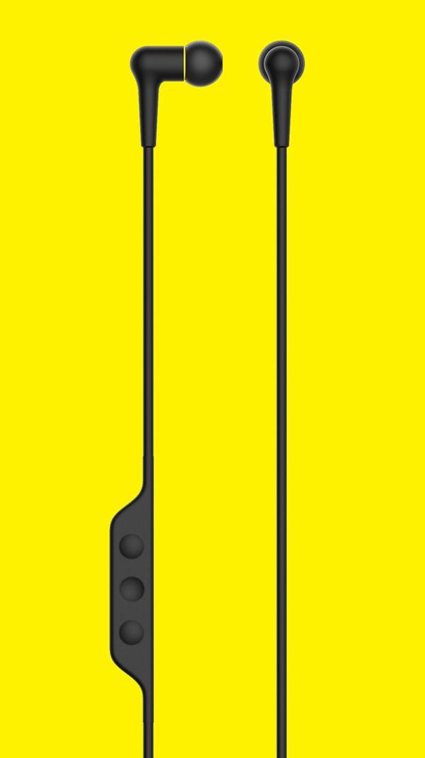 A simple earphone for sport. Waterproof.