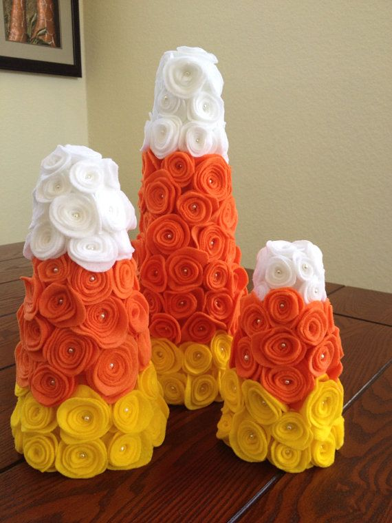 Candy corn decor / candy corn cone / candy corn by thelocalmermaid, $40.00