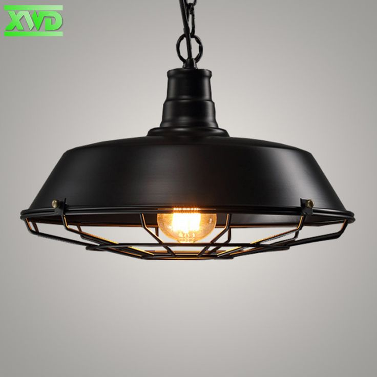 Vintage Industry Iron Pendant Lights E27 Lamp Holder 110-240V Coffee House/Dining Hall/Club/Dining Room/Restaurant Lighting