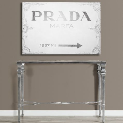"""I really love this redition of the Prada Marfa sing!  Reminds me of college only 1 town away from the Prada Marfa """"sculpture"""" Prada Marfa from Z Gallerie"""
