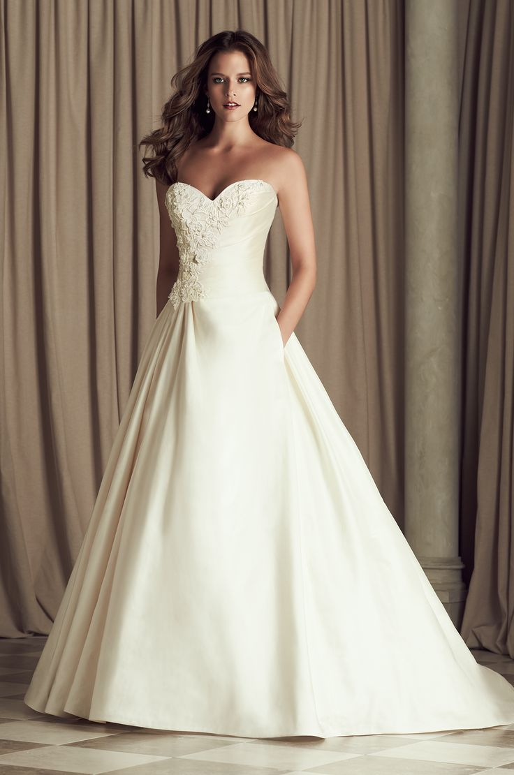 Silk Dupioni And Guipure Lace Bridal Gown Crossover