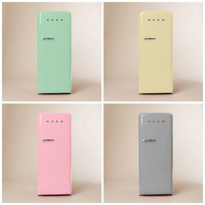 Kitchen Appliance Crush: Smeg Refrigerators | Pastel, Kitchens and ... | {Kühlschrank retro mint 31}