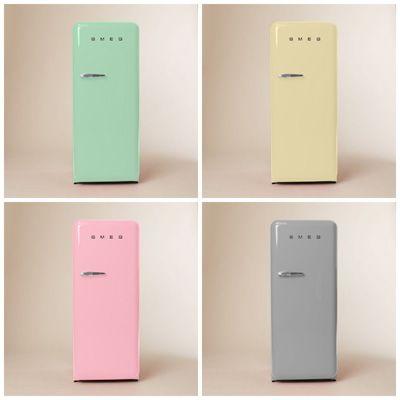 Energy-efficient Smeg refrigerators #countryliving loving the colours