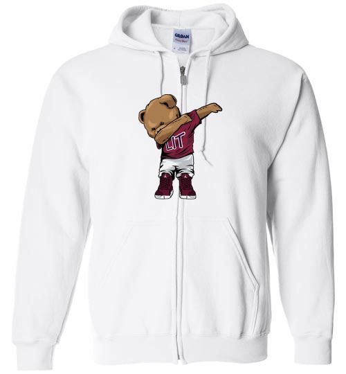 989f0253aad nice Jordan 12 bordeaux dabin polo bear Unisex zip hoodie ...