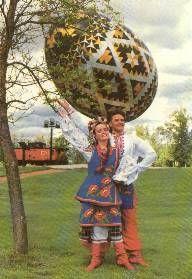 ukrainian dancers at Vegreville Pysanka