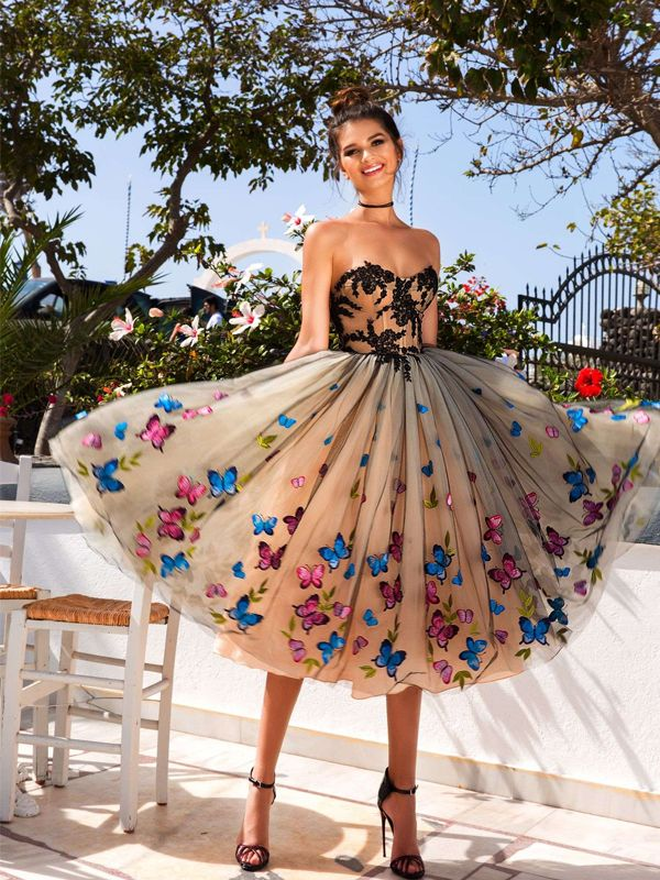 Sweet Heart Homecoming Dress, Vintage Applique Homecoming Dress, Backless Homecoming Dress, 170255 from LuckyBridal