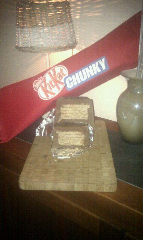 Kitkat chunky gemaakt als sinterklaas surprise.