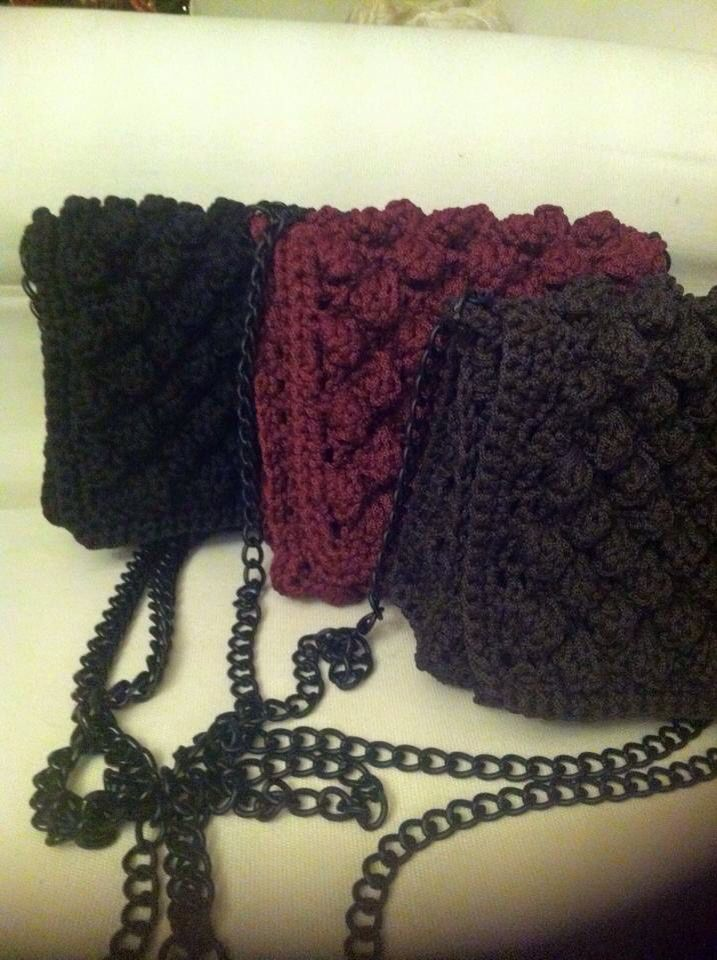 Handmade crocheted clutches!!!