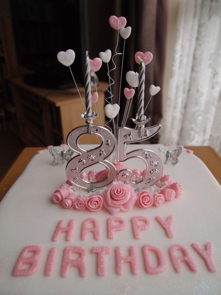 85th birthday cake cakes pinterest birthday cakes and birthdays - Birthday cake decorations ideas ...