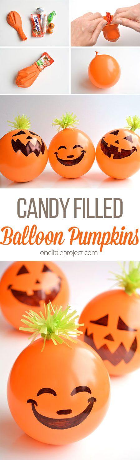 Estas calabazas globo lleno de dulces son favores impresionante para las fiestas de Halloween! Son súper barato y muy rápido de hacer! Imagine los juegos de mesa se podía jugar !!