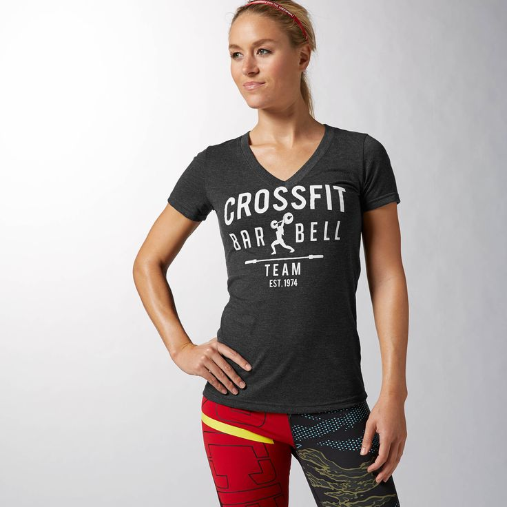 With a feminine look and a powerful message, this quintessential CrossFit tee proves that you don't have to choose between your gender and your gym.  So tear up the box, and look cute doing it!