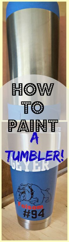An easy way to decorate and add color to a YETI or Ozark Mug!  Must do!