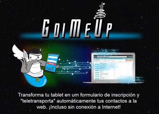 """Transforma tu tablet en um formulario de inscripción y """"teletransporta"""" automáticamente tus contactos a la web. ¡Incluso sin conexión a Internet!"""