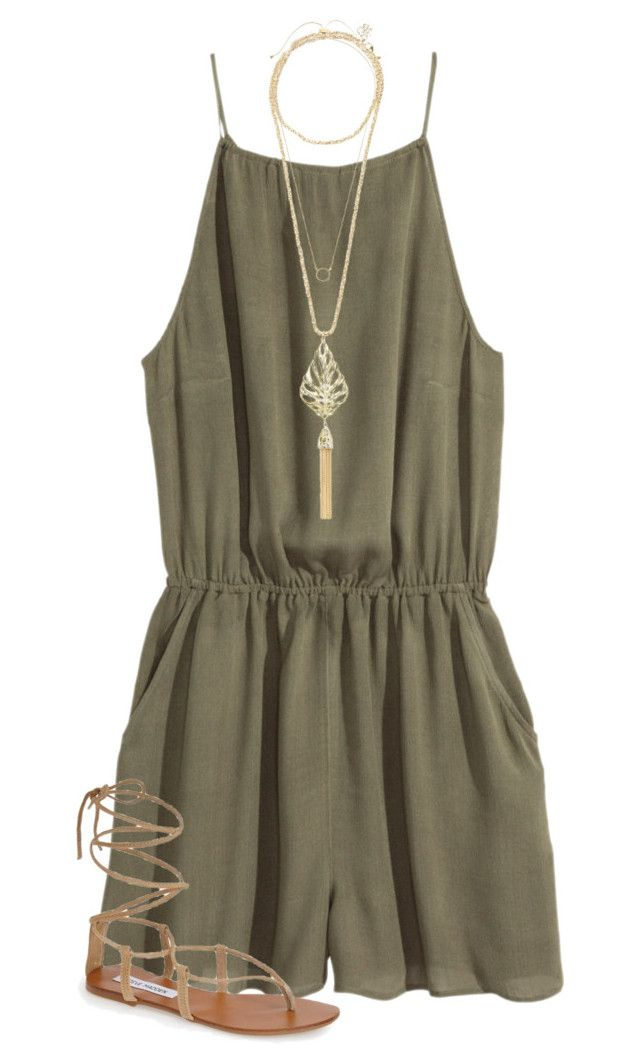"""""""//Danielle Marie Inspired//"""" by preppybelle ❤ liked on Polyvore featuring H&M, Steve Madden, Kendra Scott and Kate Spade"""