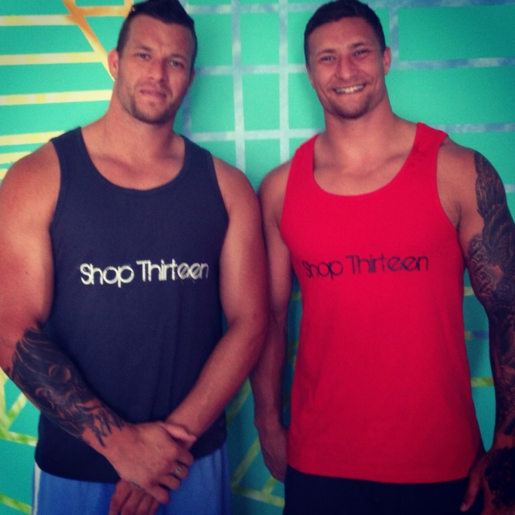Tariq and Ashton sims reppin www.shopthirteen.com.au