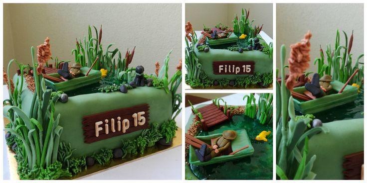 Rybar / Fisherman fondant cake