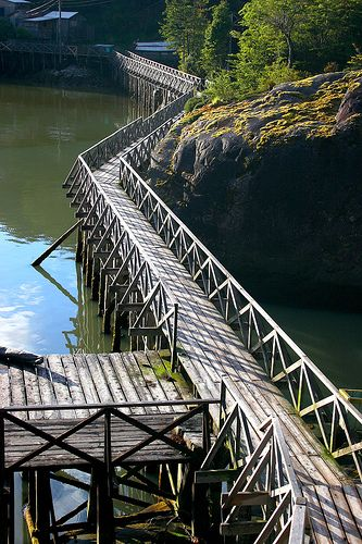 Pasarelas (boardwalks), Caleta Tortel - Aysén - Chile