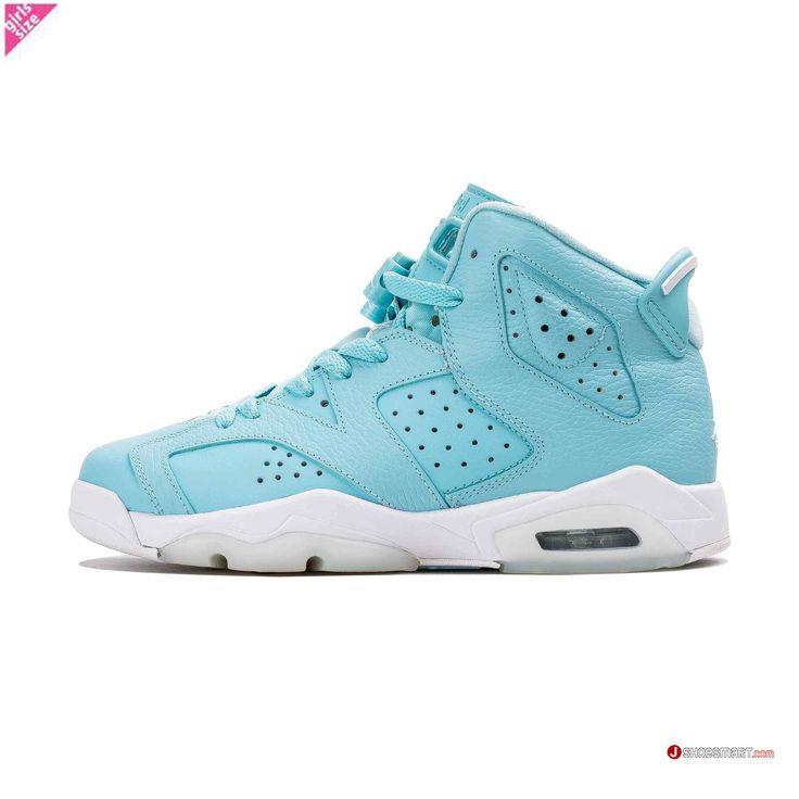 """2017新作 Air Jordan6 Retro GG """"Pantone"""" GS 543390-407 Still Blue/White (ナイキ エア ジョーダン 6 レトロ GG) ガールグレードスクール WMNS ウィメンズ スニーカー 靴 激安"""