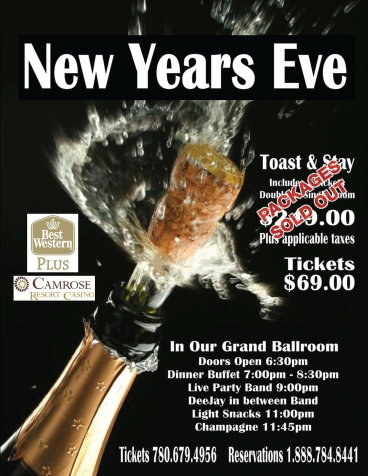 Celebrate New Years Eve with us