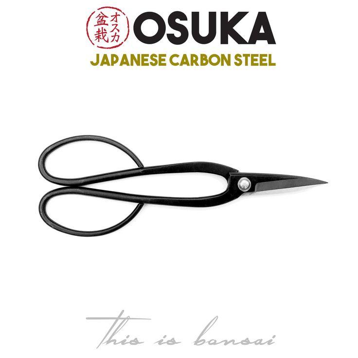 • OSUKA Bonsai Shears (Bonsai Scissors) • Length – 200mm • Finish – Black • Material – High Quality Japanese Carbon Steel