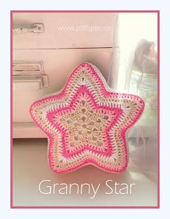 Granny Star, German (I want to make this into a blanket! Gorgeous!)