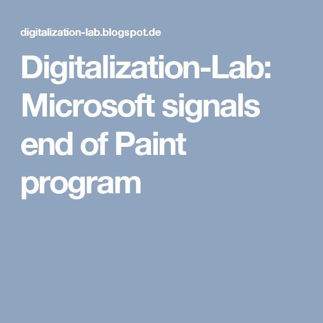 Digitalization-Lab: Microsoft signals end of Paint program