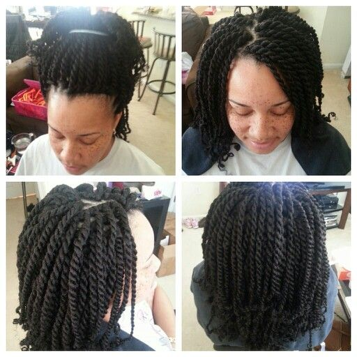 Kinky Twist Crochet Hair Styles : Long Kinky Twist Crochet Braids w/Marley Hair. If your are in the ...