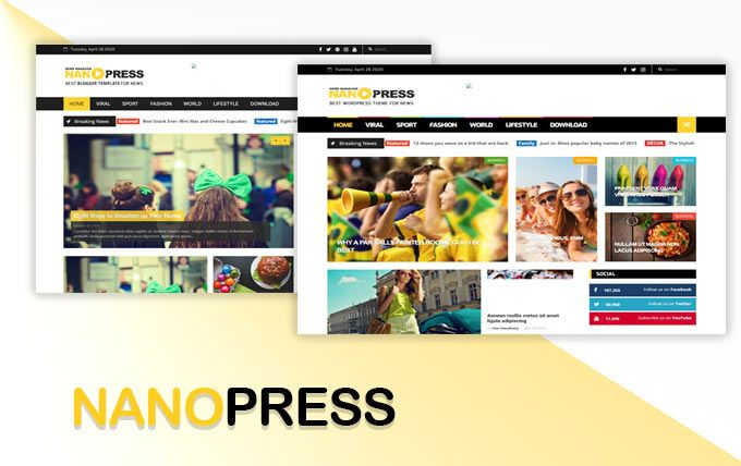 قالب بلوجر اخباري عربي بدون حقوق قالب Nanopress Film Polaroid Film Camera