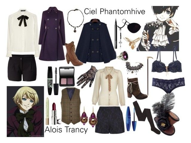 """""""Casual Cosplay- Alois and Ciel"""" by animegirl321 ❤ liked on Polyvore featuring Ciel, Elle Macpherson Intimates, Miz Mooz, Yumi, Pieces, Marni, King Baby Studio, Maybelline, NARS Cosmetics and BKE"""