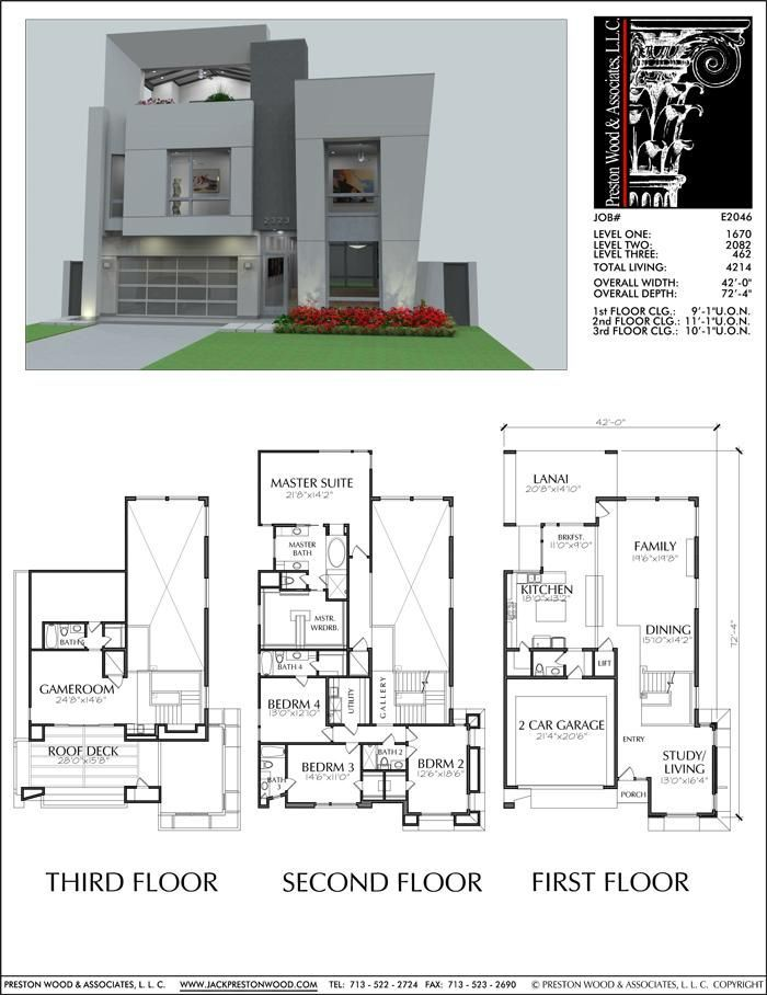 Urban Two Story Home Floor Plans Inner City Narrow Lot Home Design Preston Wood Associates Homedesign House Layout Plans House Floor Plans House Plans