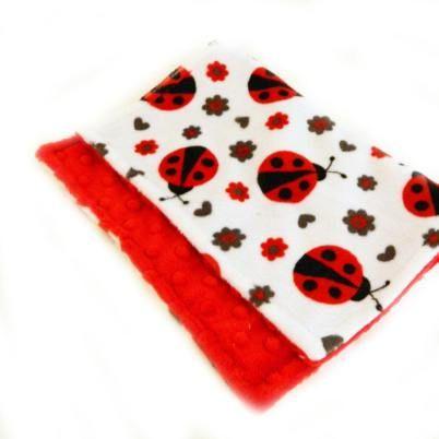 Ladybug nursery ideas - lots of ladybug room ideas - burp cloth - baby shower gift