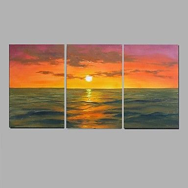 Handpainted+Abstract+Sea+view+sunrise+Wall+Art++Home+Decor+Stretchered+Frame+–+AUD+$+117.36