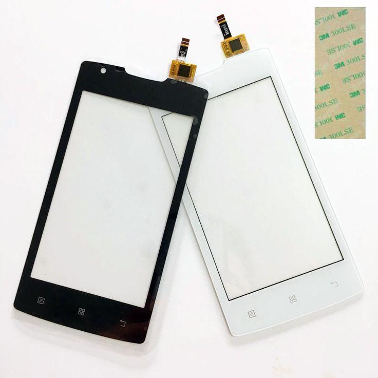 4.0 ''Phone Testé Écran Tactile Pour Lenovo A1000 Écran Tactile Écran Tactile Digitizer Façade En Verre Remplacement Du Capteur + 3 m autocollant