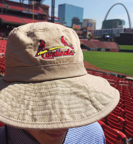 The first 500 fans who come watch the @cardinalsmlb vs Cubs game tomorrow (8/11) get this FREE safari hat! Giveaway starts at 7pm. #stlcards #stl #ballparkvillage #cardinalnation