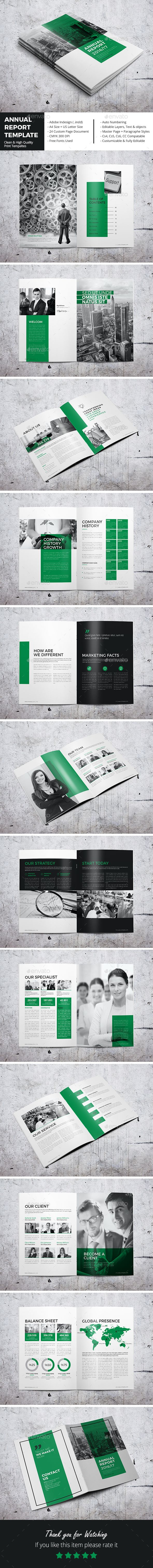 Annual Report Template InDesign INDD