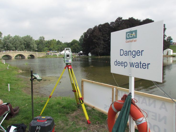 Measuring Spey Casting at the CLA Game Fair, Blenheim Palace in Woodstock, Oxfordshire  | Storm Geomatics Limited 01608 664910