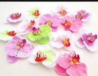 Mixed color Simulation butterfly orchid Flowers Silk Decoration Flowers Head  50pcs/lot -Free shipping