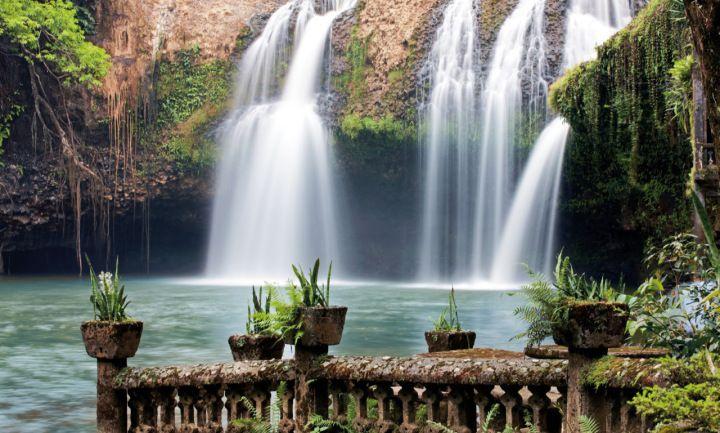 Paronella Park in Pictures: Waterfall lookout at Paronella Park, Queensland, Australia.